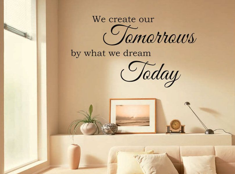 Vinyl Wall Quote We Create Our Tomorrows... Wall Art Sticker Modern ...